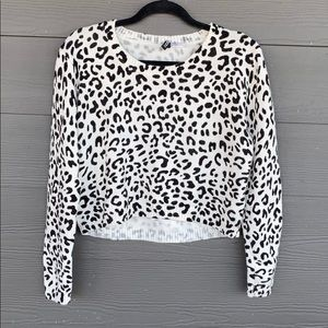 H&M Divided Leopard Print Cropped Sweater
